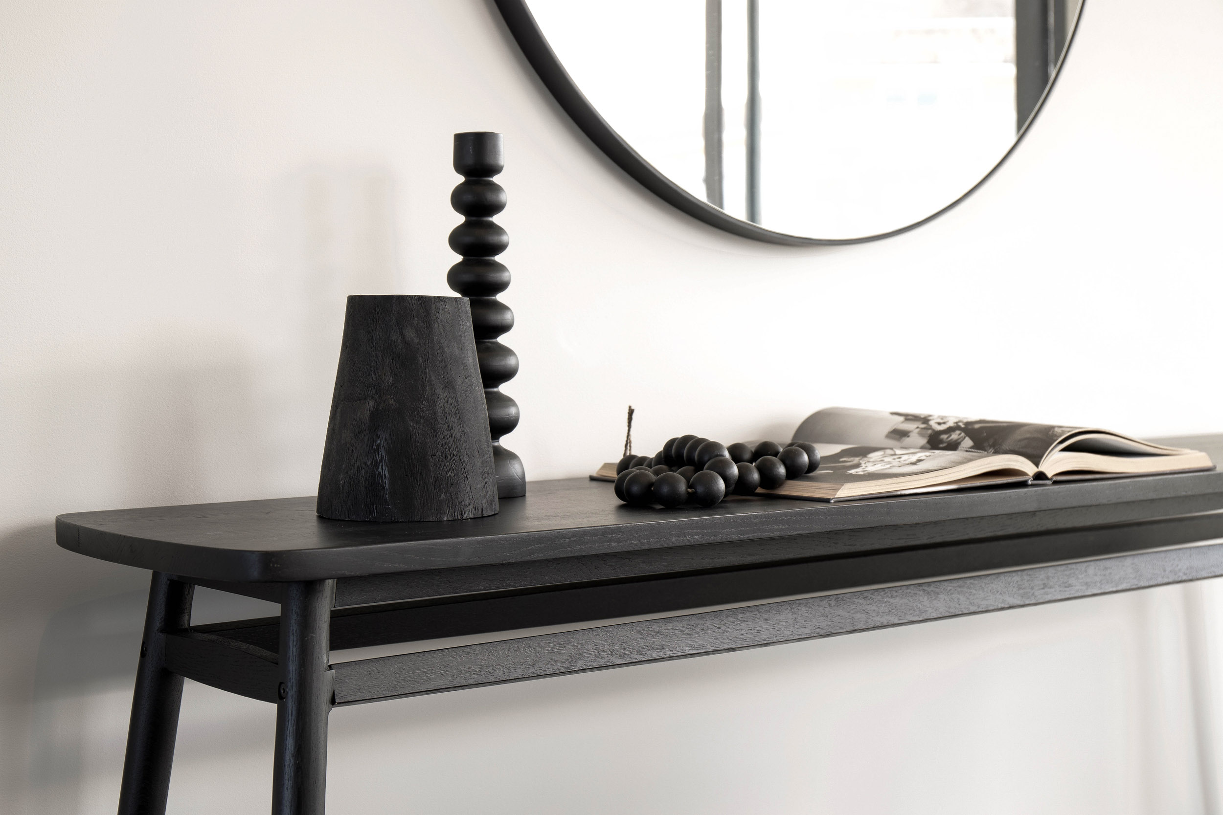 Bowerbird Black Premium Offering Console Table | Property Styling