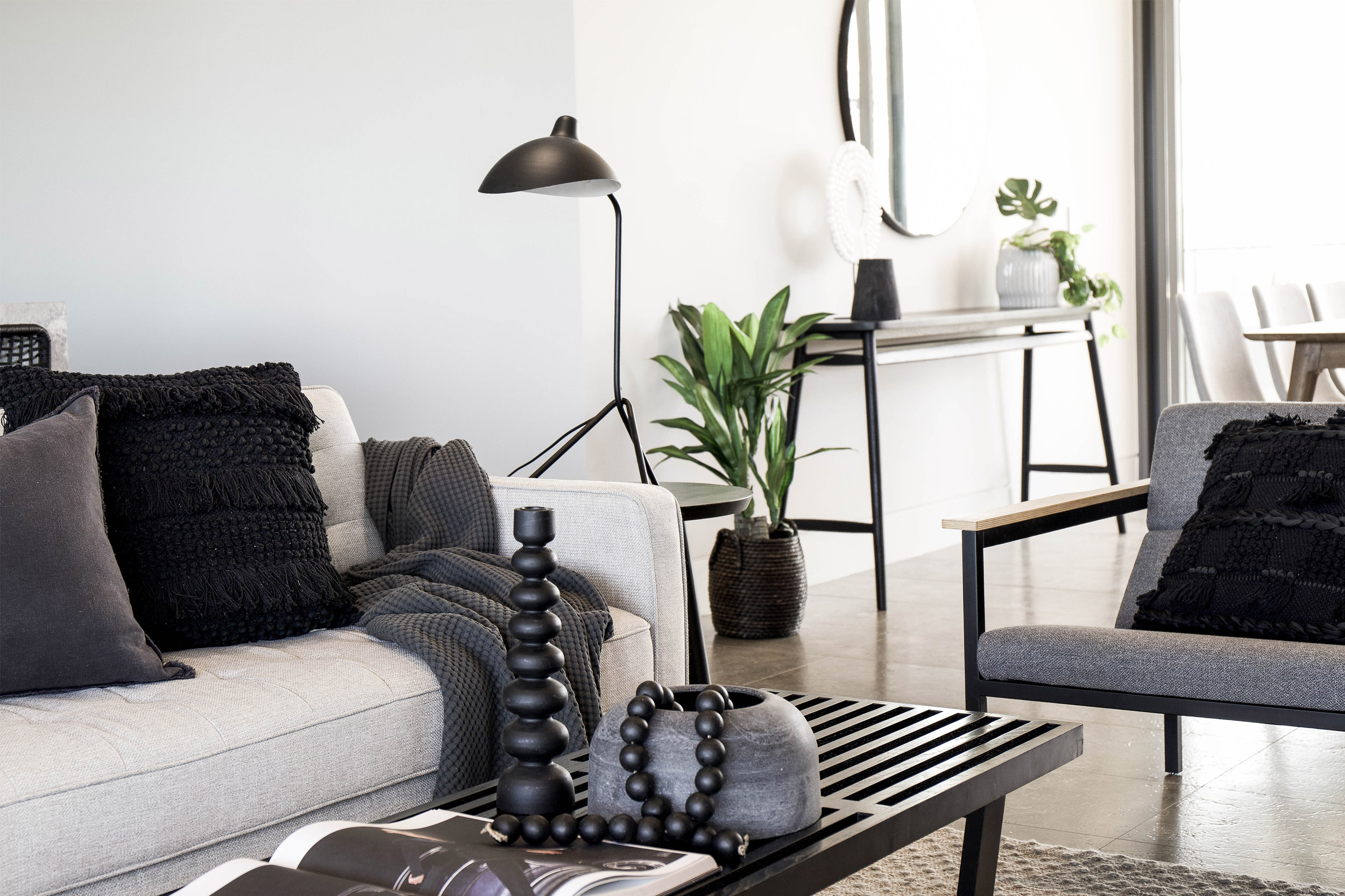 Bowerbird Black Premium Offering Living Room | Property Styling