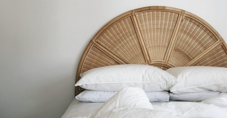wicker bedhead