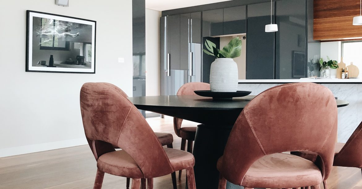 velvet dusty pink chairs